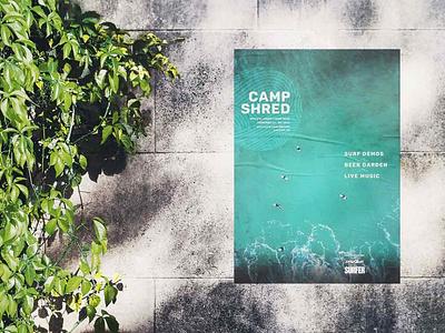 Camp Shred Surf Event Poster Design 2 typography print branding design
