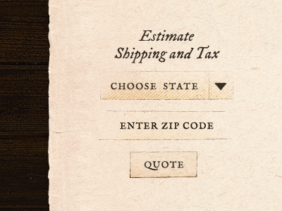 Shipping and Tax Estimator