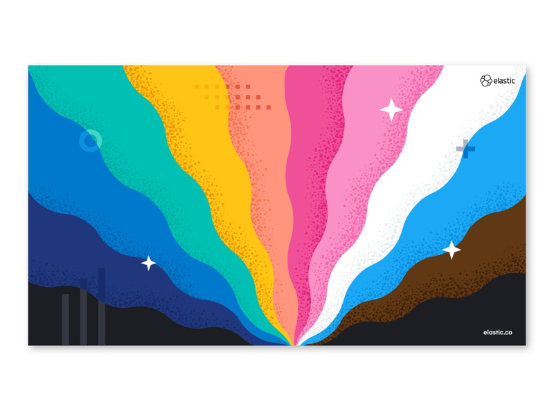 Virtual Pride 2020 - Virtual Backgrounds pridemonth trans designer trans queer lgbtqia lgbtq bipoc pandemic pride virtual pride virtual background pride 2020 pride illustrator branding vector illustration design