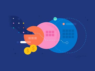 Abstract Data Tiers data storage storage branding illustrator vector illustration design money data tiers data dataviz data visualization