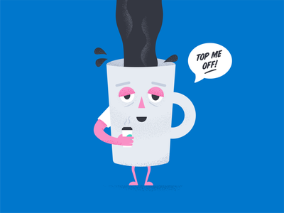 Caffeinated yawn tired mug java morning joe illustrator vector design illustration ill coffee
