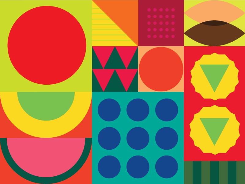 Abstract Fruit berries banana pineapple apple fruit minimal web icon ui ux flat illustrator branding logo vector illustration design