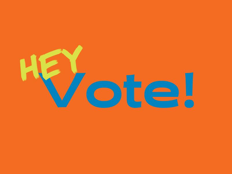 HEY Vote! voting votes voter halogen handdrawn vote icon lettering illustrator branding logo type vector design illustration typography