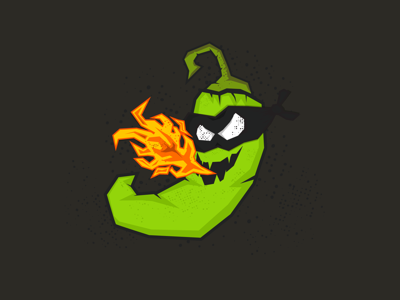 Jalapeñito hot fire spicy jalapeno beer mask vector ux  ui ux illustration craft beer inhopnito flames jalapeno beer label beer