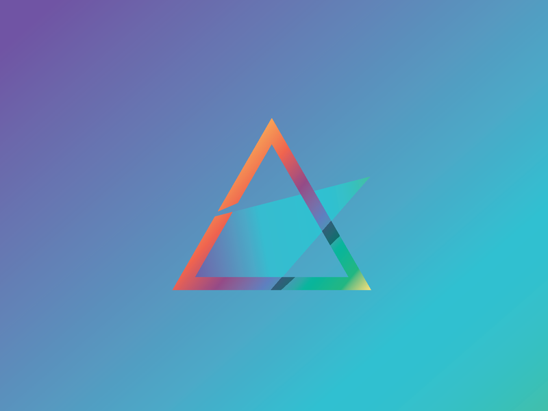 Geometric swooshy thing triangle gradient web ui ux icon flat illustrator branding logo type vector typography illustration design