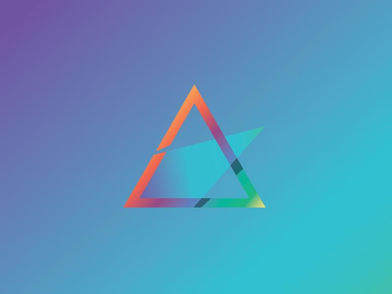 Geometric swooshy thing triangle gradient web ui ux icon flat illustrator branding logo type vector typography illustration design