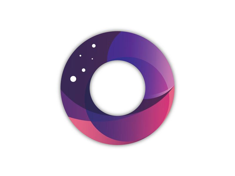 O'Space gradient app ui ux icon illustrator branding logo vector type typography illustration design