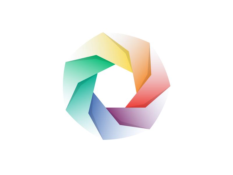 Pinwheel web minimal ios pinwheel gradient website ux app ui illustrator branding logo type vector illustration design