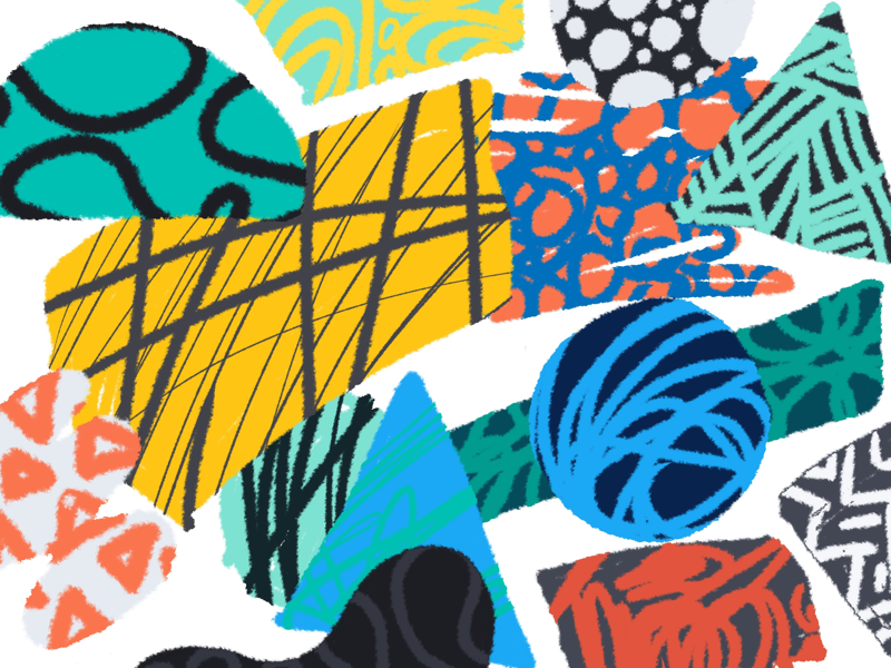 Fuzzy blorbs pencil abstract ipad raster shapes procreate fuzzy
