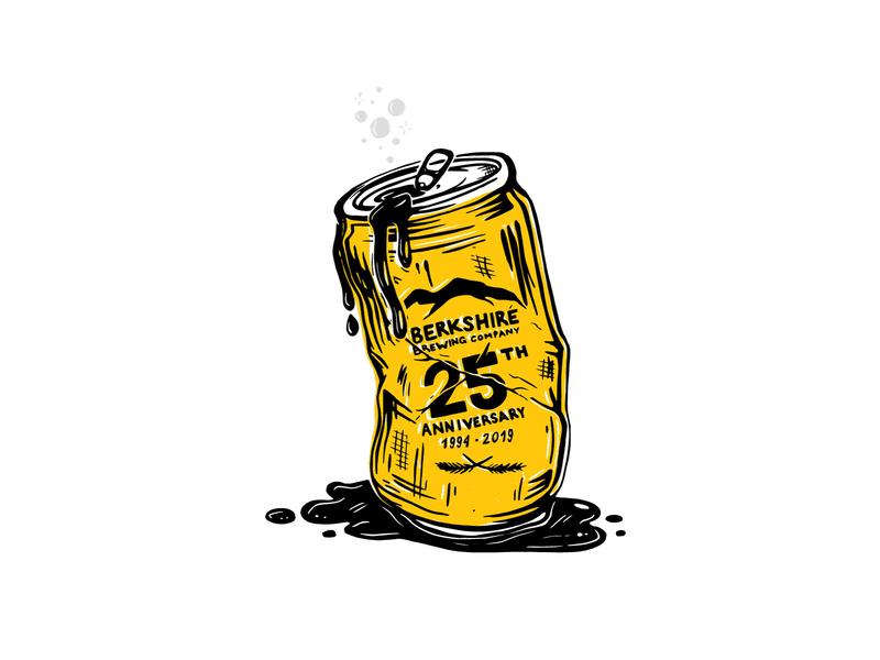 Yiccup beer label vector type branding typography design illustration illustrator can beer