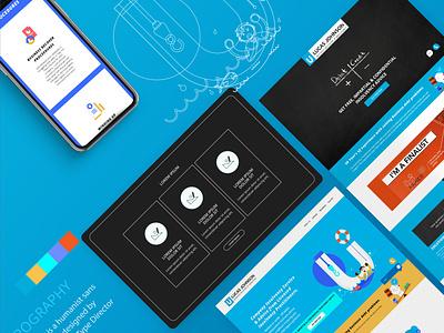 Website Design for Lucas Johnson photoshop webdesign interface ui website ux design branding