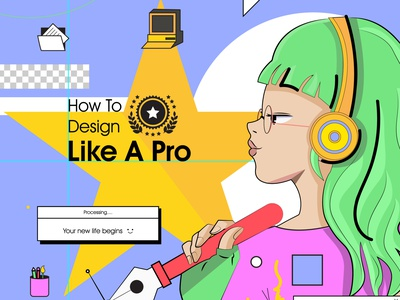 How to Design Like a Pro vector art illustration 2021 learn designing creative graphic design design