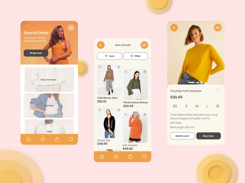 Clothes store mobile app shopping clothing clothes store app mobile fashion app fashion ui design