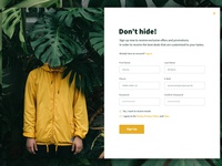 Daily UI: #001 Sign Up