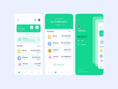 #Exploration - Crypto App aplication graphic design bitcoin uiux iphone android crypto interface exploration ui design daily ui app