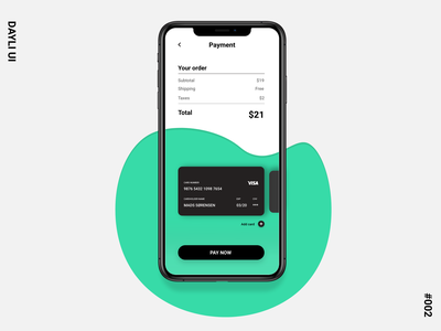 Dailyui #002 - Credit Card Checkout order adobe illustrator adobe xd  photoshop  ui ux adobe xd 100 ui dayliui checkout payment dayli challenge