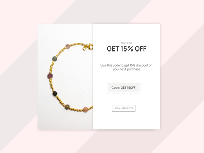 Dayli UI #016 - Popup / Overlay coupon discount pop up design dayli dayliui adobe xd ui dayli challenge 100