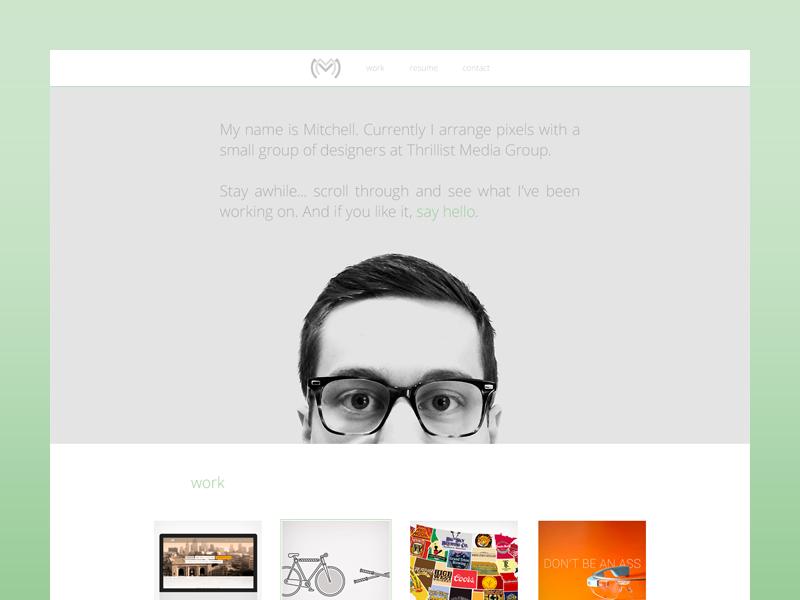 Personal Site Refresh portfolio wip web design personal site