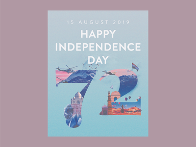 Independence Day, India poster flyer independence india minimal illustration