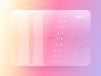 Hello, Dribbble! typography design dribbleartist card clean gradient hello dribbble