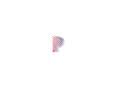 P zigzag lines two colors blue red brand behance trademark marks logos design branding logotype logo clean