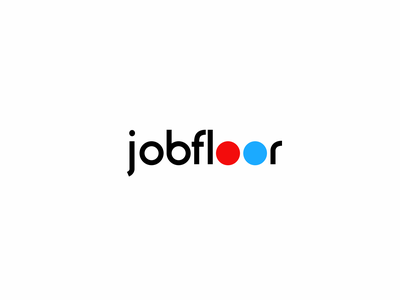 jobfloor minimal app job board job brand logos trademark marks french logo logotype clean branding design