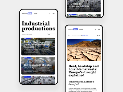 News site moble article minimal mobile news app industry newspaper feed newsfeed news design clean ux ui