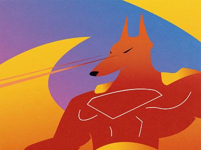 Anubis egypt anubis vector illustrator flat lasers wolf illustraion design clean