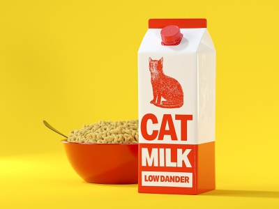 Just because you can, doesn't mean you should cereal cheerios procedural 3d cinema 4d redshift3d packaging milk redshift c4d