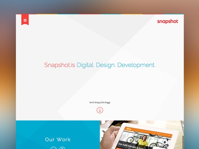 Site Launch: Snapshot.is launch website web design responsive branding