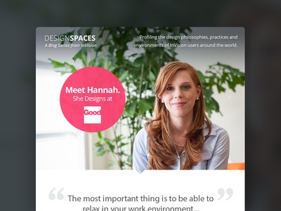 DesignSpaces Rebound email pink quote template interview pull quote