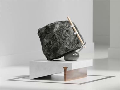 New and improved rock and a hard place loop motion c4d redshift 3d