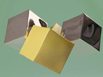 CUBEY BOYS - Sound on weird texture cubes blender b3d 3d