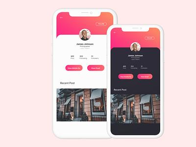 User Profile Design branding web uidesign uxdesign ux design uxui uiux typography minimal app design ux ui design ui