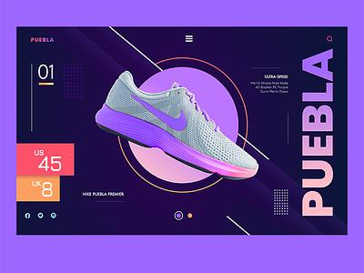 Nike Shoe Interface Prototyping web ux design design uxui uiux uxdesign ux ui uidesign ui design