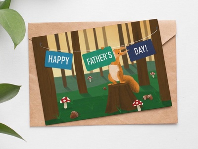 Father's Day Card card typography design art illustration