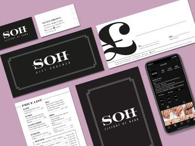 SOH Brand stationery logo design brand design branding brand