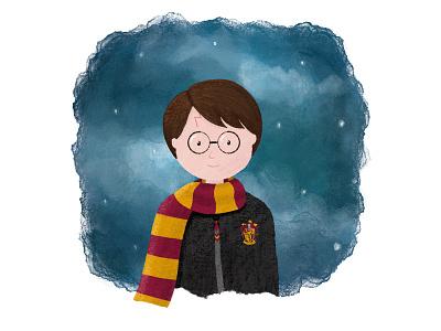 Harry Potter watercolour pencil drawing digital art design art illustration character design characterdesign character harry potter