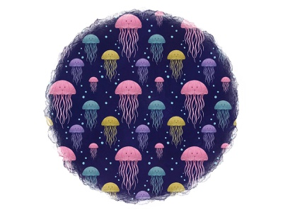 Jellyfish pencil drawing characterdesign digital art illustration design art repeat pattern colourful design pattern design pattern colourful wildlife sea ocean jellyfish