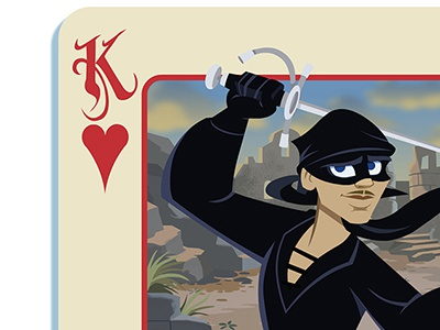 Dread Pirate Roberts card design illustration character design drawing gaming