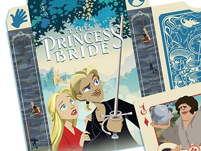 Princess Bride card deck box art