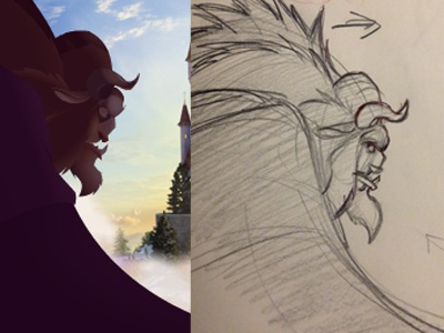 Beast final animation and rough compare