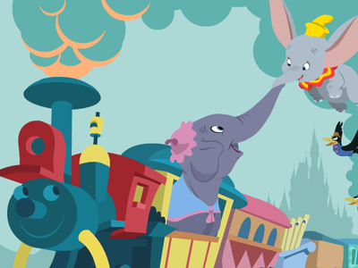Dribbble dumbo train