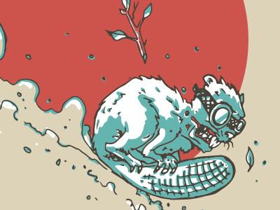 Eager Beaver... character design vector illustration