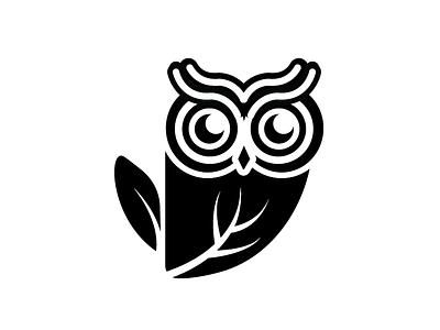 Owl logo design illustration logo
