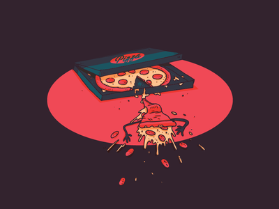The worst... faceplant pizza vector illustration