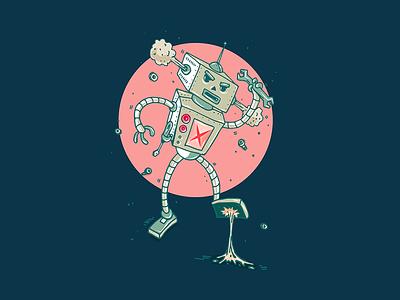 Gum Bot 900 illustration robot