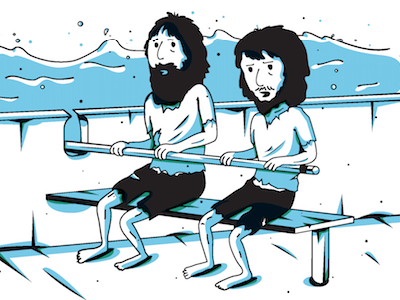 Rowers character design vector illustration