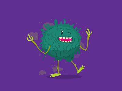 Mold! illustration allergy character mold