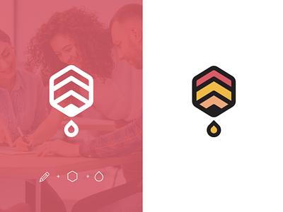 Beehive Logo minimal illustrator illustration icon flat education website education design branding beehive